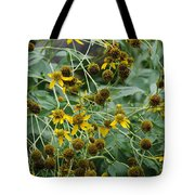 Dying Sun Flowers Tote Bag