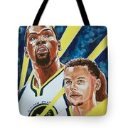 Dynamic Duo - Durant And Curry Tote Bag