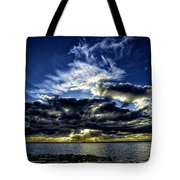 Dynamic Sunset Tote Bag