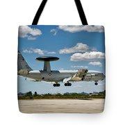 E-3 Sentry A W A C S Tote Bag