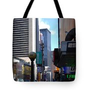 E Food  Taxi  New York City Tote Bag