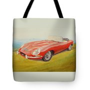 E-type Jaguar Tote Bag