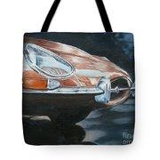 E-type Jaguar Tote Bag