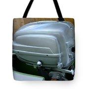 Vintage Silver Outboard Boat Motor Tote Bag