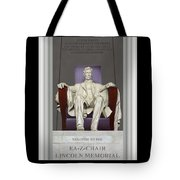 Ea-z-chair Lincoln Memorial Tote Bag