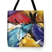 Eagle And Doves Abstract 1510 Tote Bag