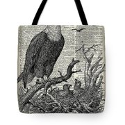 Eagle And Its Nest  Tote Bag