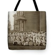 Eagle Band's Drum Corps. Native Sons Of The Golden West  Circa 1908 Tote Bag