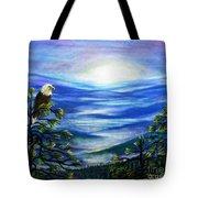 Eagle Blue Ridge Mountain Sunrise Tote Bag