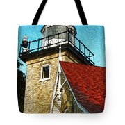 Eagle Bluff Lighthouse Re-imagined Tote Bag