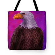 Eagle Crimson Skies Tote Bag