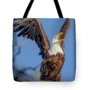 Eagle Excitement Tote Bag