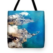 Eagle Eye Of An Ocean Bay Tote Bag