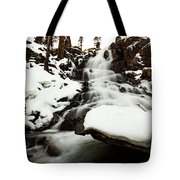 Eagle Falls Raging On Ice Tote Bag
