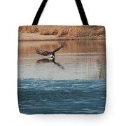 Eagle Fishing Tote Bag