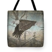 Eagle  In Forest Tote Bag