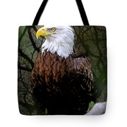 Eagle In The Night Tote Bag