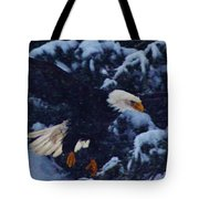 Eagle In The Storm Tote Bag