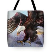 Eagle Of Light Tote Bag
