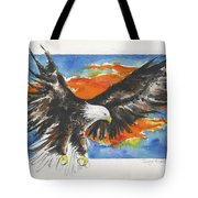 Eagle Of The Resurrection Tote Bag