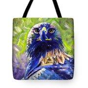 Eagle On Alert Tote Bag