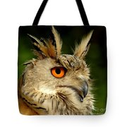Eagle Owl Tote Bag by Jacky Gerritsen