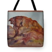 Eagle Rock In Valley Of Fire Tote Bag