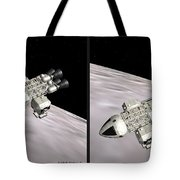 Eagle Shuttle - Gently Cross Your Eyes And Focus On The Middle Image Tote Bag
