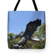 Eagle Statue  Tote Bag