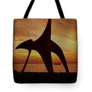 Eagle Sunset Over Elliott Bay Tote Bag