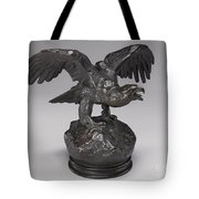 Eagle With Wings Outstretched And Open Beak Tote Bag