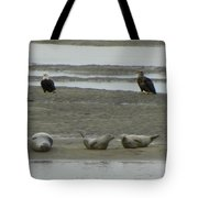 Eagles And Seals Tote Bag