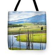 Eagles View, Hayden Valley, Yellowstone Tote Bag