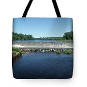 Eagleville Dam, Connecticut  Tote Bag by David Birchall