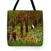 Egret And Heron Tote Bag
