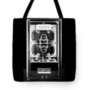 Early 1900s Type Cs Watthour Meter In Black And White Tote Bag