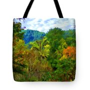 Early Autumn Along The Rogue River In Oregon Tote Bag