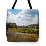 Early Autumn At The Tobie Trail Bridge Tote Bag