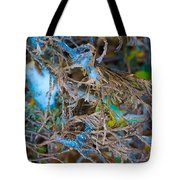 Early Blue Ice  Tote Bag