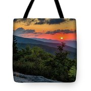 Blue Ridge Parkway Sunrise - Beacon Heights - North Carolina Tote Bag