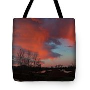Early Dawn In The Wetlands Tote Bag