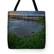 Early Day At The Dock Tote Bag