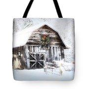 Early December Snowfall Morning Tote Bag