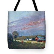 Early Evening At Phil's Farm Tote Bag