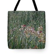 Early Fall Color Woodcut Tote Bag