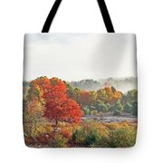 Early Fall Morning Tote Bag
