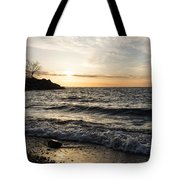 Early Lakeside - Waves Sand And Sunshine Tote Bag