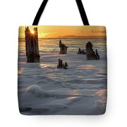 Early March Sleeping Giant Sunrize Tote Bag