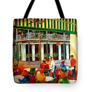 Early Morning At The Cafe Du Monde Tote Bag
