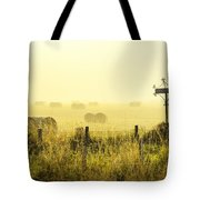 Early Morning At The Farm Tote Bag